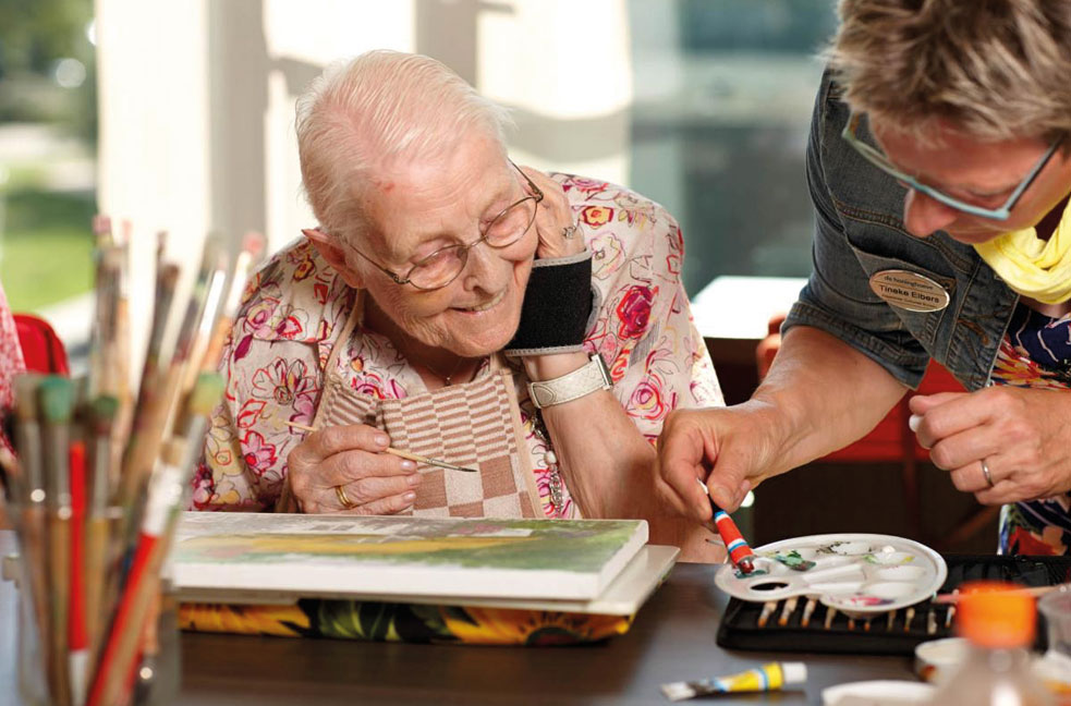 dementerende ouderen schilderen